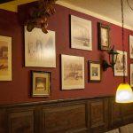 Bilder an der Wand des Restaurant